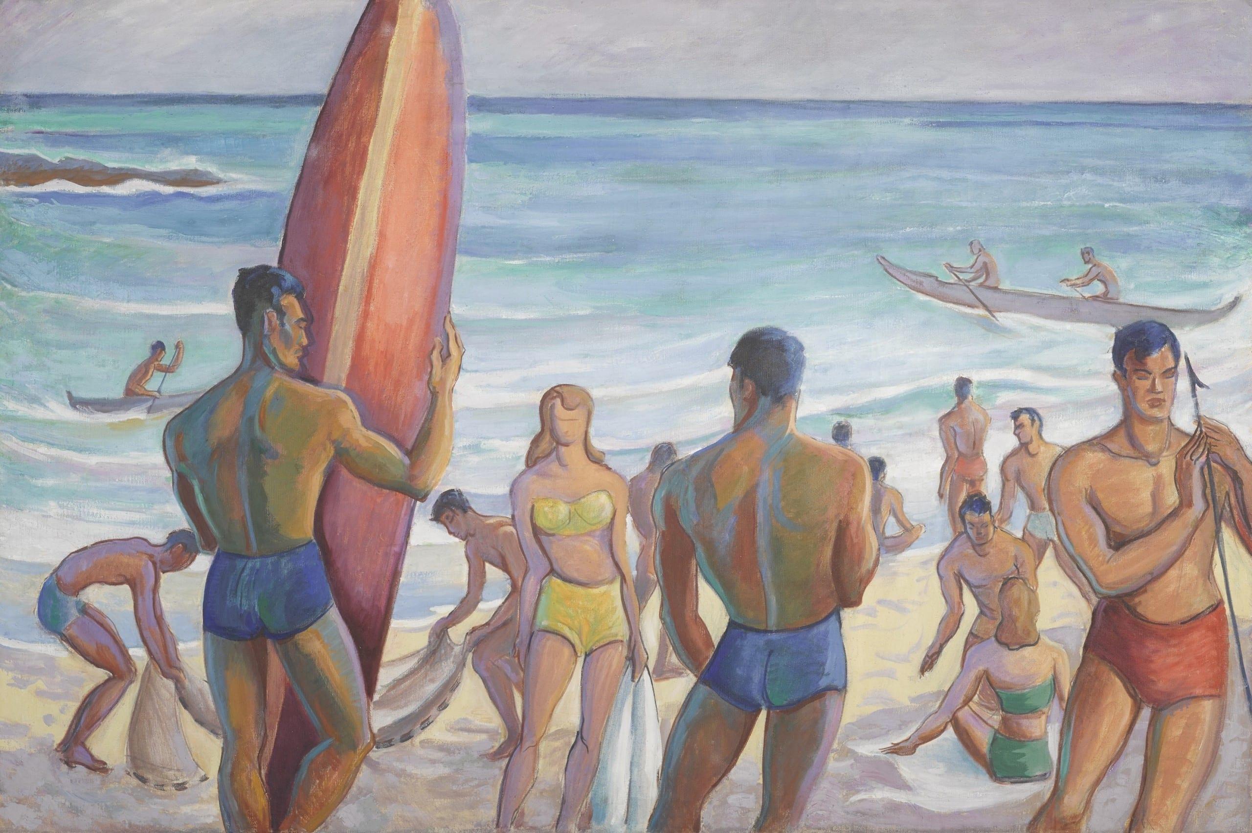 Robert Eskridge (1891-1975) Waikiki