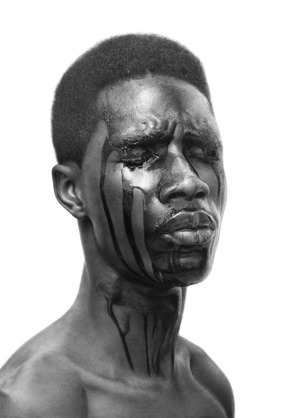 Arinze Stanley The Machine Man 6 Charcoal and graphite on paper 29.3 x 27.5